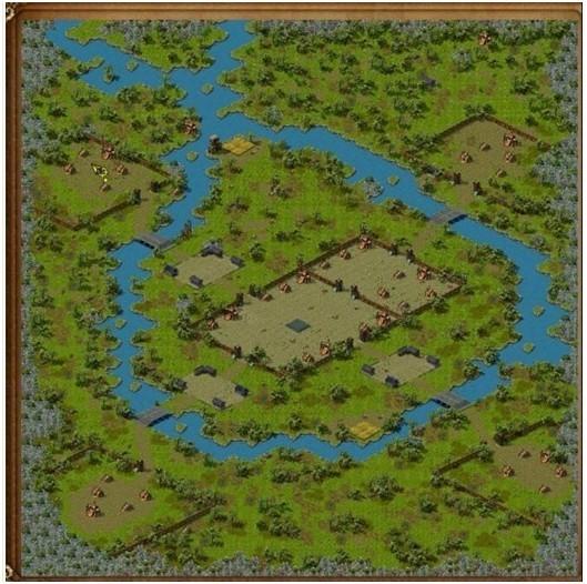 梁山大寨全景地图